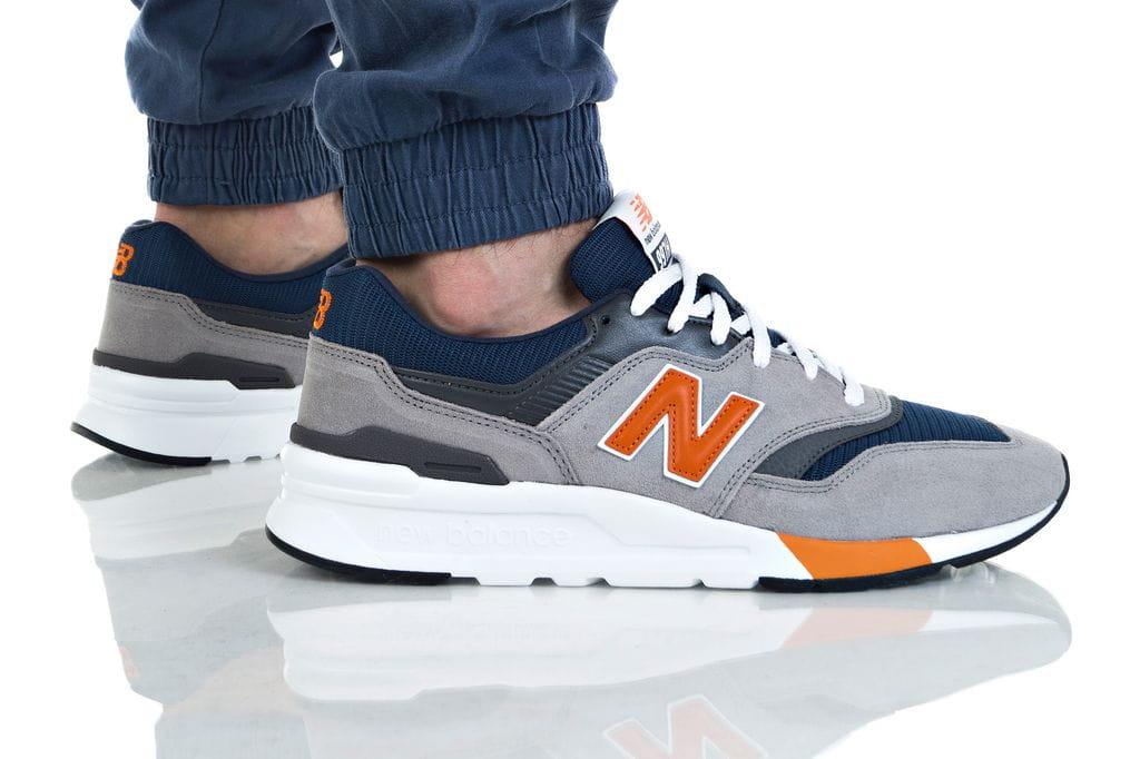 נעליים ניו באלאנס לגברים New Balance CM997 - לבן/כתום