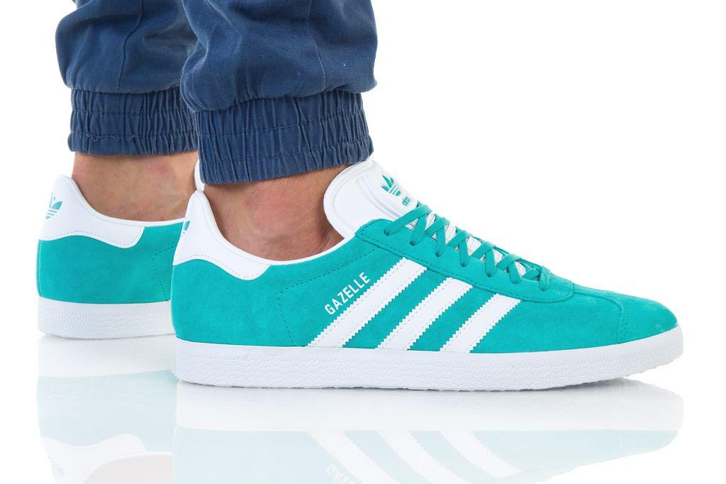 נעליים אדידס לגברים Adidas Gazelle - טורקיז