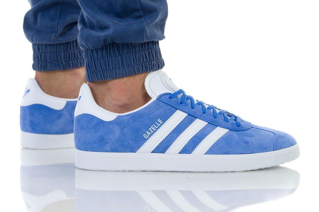 נעליים אדידס לגברים Adidas Gazelle - כחול/לבן