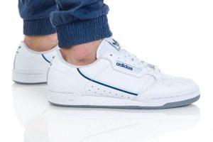 נעלי סניקרס אדידס לגברים Adidas Continental 80 - כחול/לבן