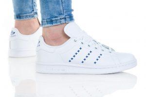 נעליים אדידס לנשים Adidas STAN SMITH W - לבן/ כחול