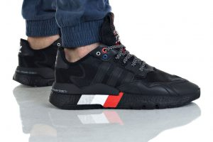נעליים אדידס לגברים Adidas Nite Jogger - שחור/אדום