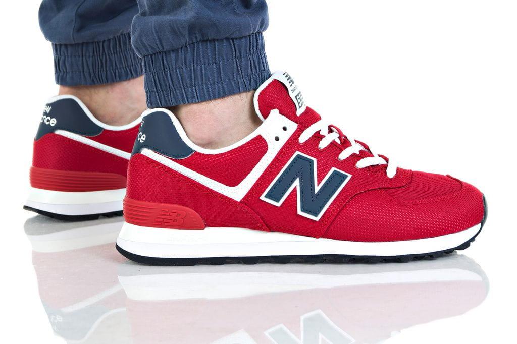 נעליים ניו באלאנס לגברים New Balance ML574 - אדום יין