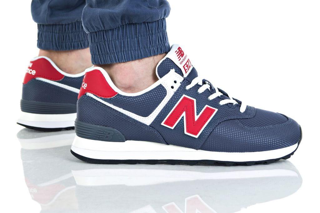נעליים ניו באלאנס לגברים New Balance ML574 - כחול כההאדום