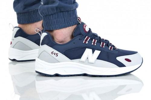 נעליים ניו באלאנס לגברים New Balance ML615 - כחול/לבן