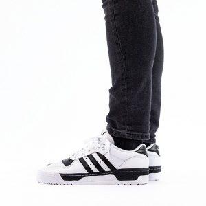 נעליים Adidas Originals לגברים Adidas Originals Rivalry Low - לבן/שחור