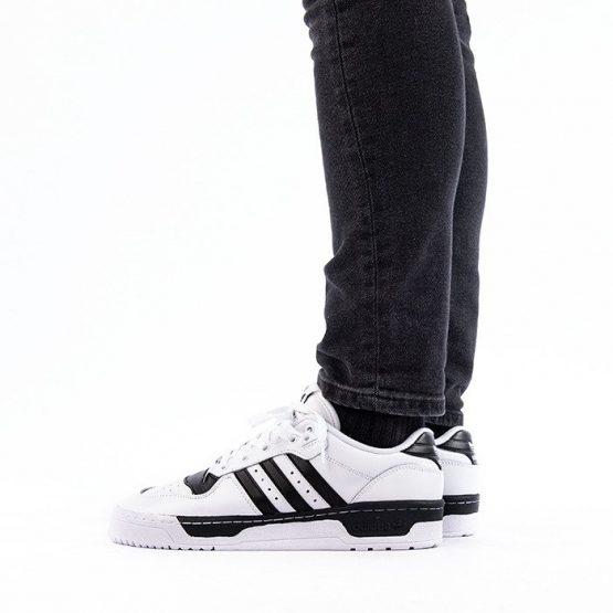 נעלי סניקרס אדידס לגברים Adidas Originals Rivalry Low - לבן/שחור