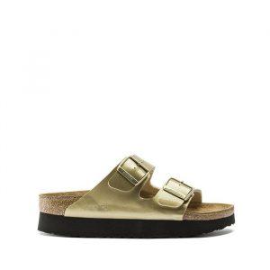 נעליים בירקנשטוק לנשים Birkenstock Papilio Arizona - זהב