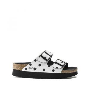 נעליים בירקנשטוק לנשים Birkenstock Papilio Arizona - לבן/שחור