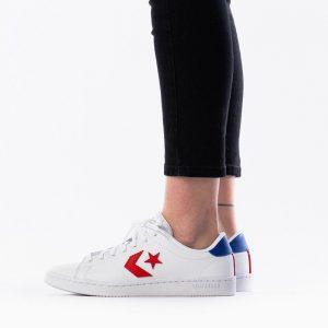 נעליים קונברס לנשים Converse All Court - לבן  כחול  אדום