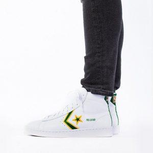נעליים קונברס לגברים Converse Pro Leather Mid Fort Wayne Pistons - לבן/ירוק