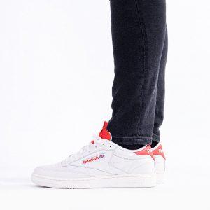 נעלי סניקרס ריבוק לגברים Reebok Club C 85 - לבן/אדום