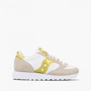 נעליים סאקוני לנשים Saucony JAZZ ORIGINAL VINTAGE - לבן/צהוב