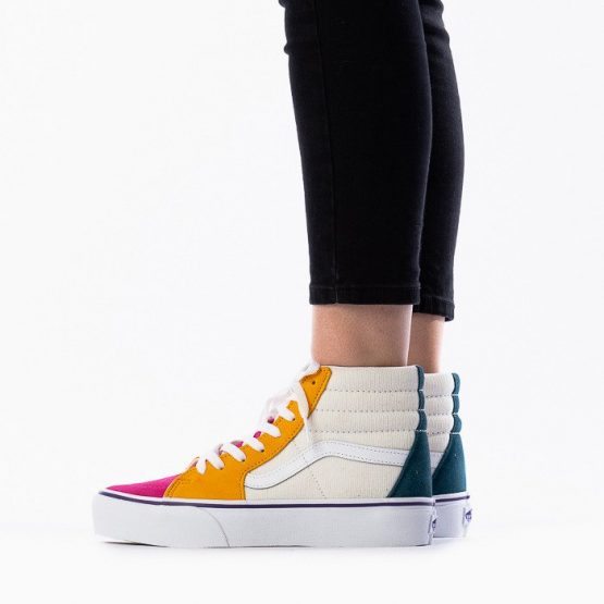 נעליים ואנס לנשים Vans Sk8 Hi Platform 2 - צבעוני בהיר