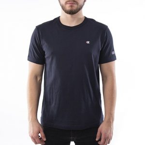 חולצת T צ'מפיון לגברים Champion Small C Logo - כחול כהה