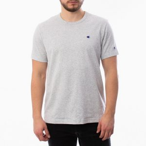 חולצת T צ'מפיון לגברים Champion Small C Logo - אפור בהיר
