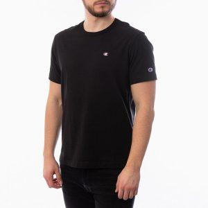 חולצת T צ'מפיון לגברים Champion Small C Logo - שחור