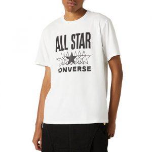 ביגוד קונברס לגברים Converse All Star SS Tee - לבן