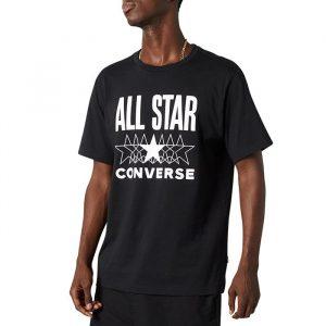 ביגוד קונברס לגברים Converse All Star SS Tee - שחור