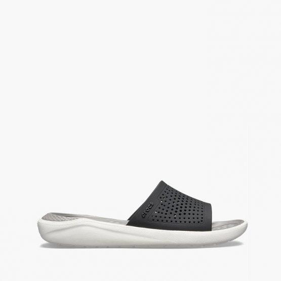 נעליים Crocs לגברים Crocs Literide Slide - שחור/לבן