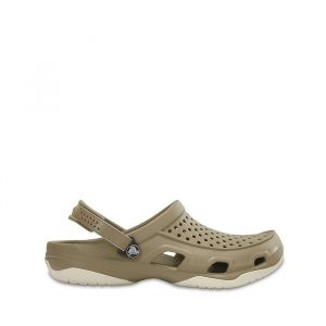 נעליים Crocs לגברים Crocs Swiftwater Deck Clog - חום