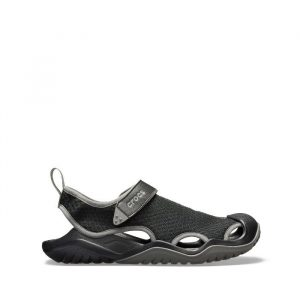 נעליים Crocs לגברים Crocs Swiftwater Mesh Deck Sandal - שחור