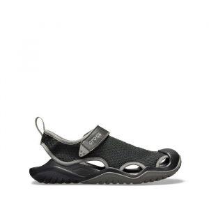 נעליים Crocs לגברים Crocs Swiftwater Mesh Deck Sandal - שחור