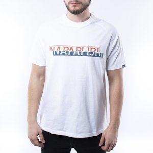 חולצת T נפפירי לגברים Napapijri Sire - לבן