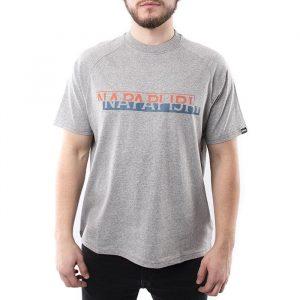 חולצת T נפפירי לגברים Napapijri Sire - אפור