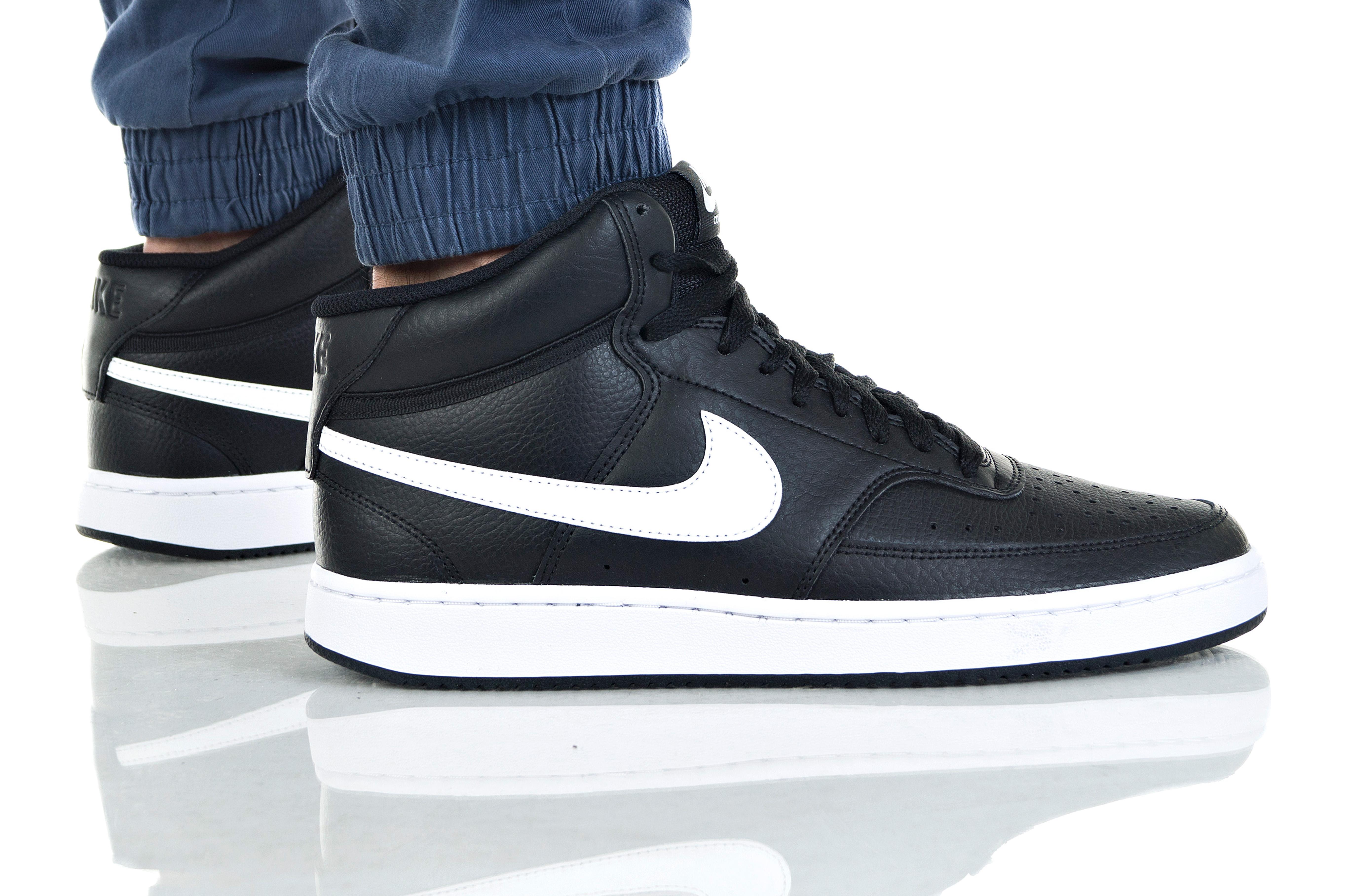 נעליים נייק לגברים Nike COURT VISION MID - שחור