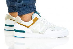 נעלי סניקרס ניו באלאנס לגברים New Balance AM574 - לבן