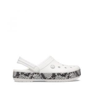 נעליים Crocs לנשים Crocs Crocband Snake Print - לבן/אפור