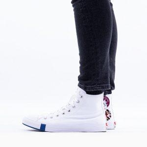 נעליים קונברס לגברים Converse Chuck Taylor All Star Logo Play Hi - לבן