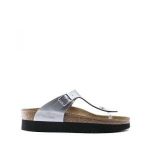 נעליים בירקנשטוק לנשים Birkenstock Gizeh BF Platform - כסף