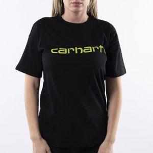 ביגוד קארהארט לנשים Carhartt WIP Script - שחור/צהוב