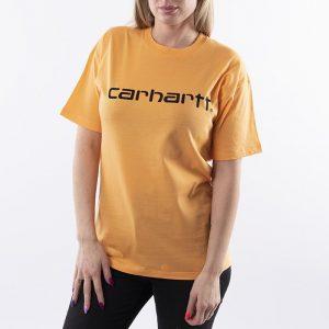 ביגוד קארהארט לנשים Carhartt WIP Script - כתום