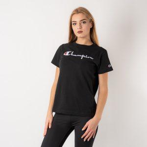 חולצת T צ'מפיון לנשים Champion Crewneck - שחור