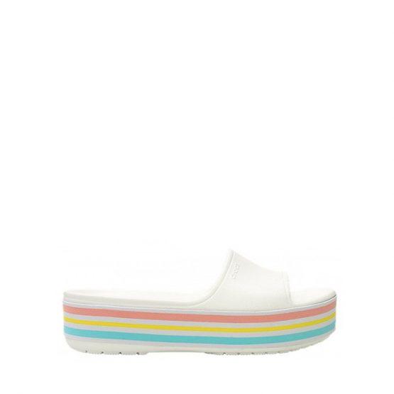 נעליים Crocs לנשים Crocs CB Platform Bld Color Slide - לבן