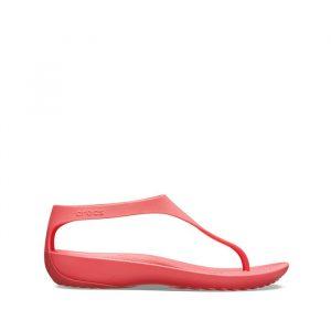 סנדלים Crocs לנשים Crocs Serena Flip - ורוד