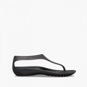 סנדלים Crocs לנשים Crocs Serena Flip - שחור