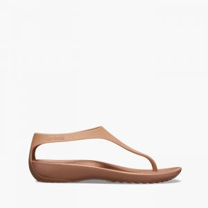 סנדלים Crocs לנשים Crocs Serena Flip - חום