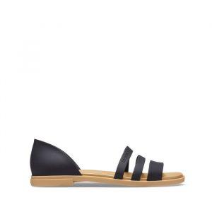 סנדלים Crocs לנשים Crocs Tulum Open Flat - שחור