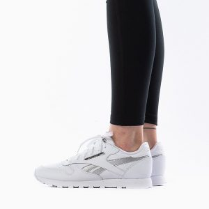נעלי סניקרס ריבוק לנשים Reebok Classic Leather - כסף