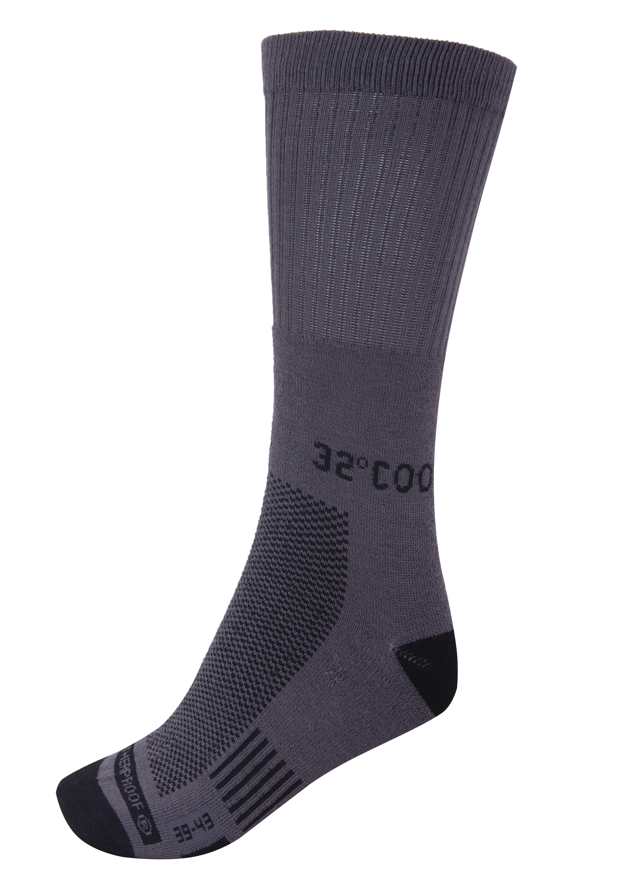 ביגוד COOL32 לגברים COOL32 Antibacterial Socks 3 IN PAC - אפור