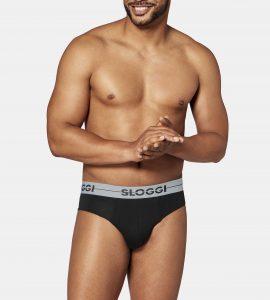 ביגוד סלוגי לגברים Sloggi  GO MINI 3 IN PAC - שחור/אפור