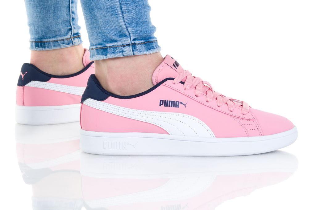 נעלי סניקרס פומה לנשים PUMA SMASH V2 BUCK - ורוד