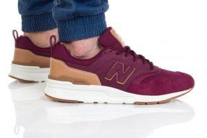 נעלי סניקרס ניו באלאנס לגברים New Balance CM997 - בורדו
