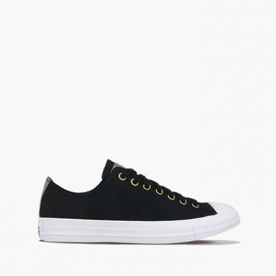 נעלי סניקרס קונברס לגברים Converse Chuck Taylor All Star Leather  - שחור