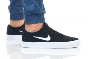 נעלי סניקרס נייק לגברים Nike SB CHARGE SLR - לבן/שחור