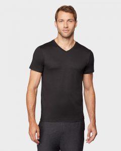 חולצת T COOL32 לגברים COOL32 COOL VNECK - שחור